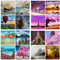 DIY Scenery Sailing Paint By Number Kit Digital Oil Painting Art Wall Home Decor