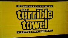 "PITTSBURGH STEELERS ""TERRIBLE TOWEL"" BEACH  POOL TOWEL 30""X60"" MYRON COPE"