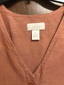 J Jill 100% Linen Jacket Or Top XL 1X Very Nice