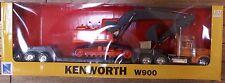 New  Ray 1:32 Kenworth W900 Trailer & Challenger Crawler Crane NRY11293-W