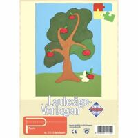 PEBARO Laubsägevorlage Apfelbaum, Puzzle