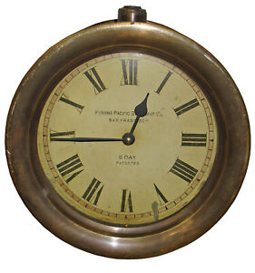 """Timeworks Double Sided Railway Station Hanging Wall Clock - 10.5"""" x 6"""""""