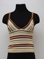 MISSONI MADE IN ITALY BRA TOP TANK TOP SHIRT SUPER SEXY COLORFUL 42 STRIPES