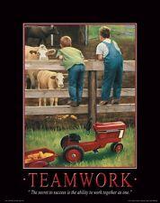 Farmall IH Tractor Motivational Poster Art Print Toys Broucher Parts  MVP104