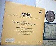 BACH Archive Production  ARC 3180 Overtures & Symphonies near-Mint vinyl cond.