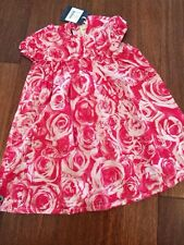 NWT New 98 3 Yr Jottum Ennya Gorgeous Rose Print Pink Dress