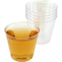 1oz Plastic Liquor Shot Glasses- Case of 2500 Cups- Bulk Bar Party Club Shooters