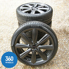 "NEW GENUINE MINI JCW 18"" R133 V SPOKE MATT BLACK ALLOY WHEELS TYRES PIRELLI"
