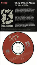 STING w/ Eric Clapton & MARK KNOPFLER They Dance Alone 1987 USA PROMO CD single