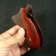 NEW ROSEWOOD GRIPS S&W REVOLVERS K L FRAME, OPENBACK, ROUND BUTT #SWK-244