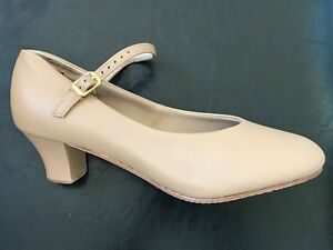 Cuban Heel Character / Chorus Shoes Tan NEW