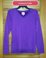 Isaac Mizrahi Super Purple Cozy Sleepwear Top Fuzzy soft warm EUC sz M