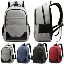 Mens Waterproof Travel Laptop Backpack School Bag Unisex Women Rucksack Satchel