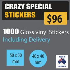 Custom Printed Labels or stickers Address Labels Waterproof