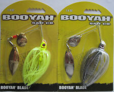 2 - BOOYAH Spinnerbait - Tandem Blade - 1/4 oz. - Two Popular Colors