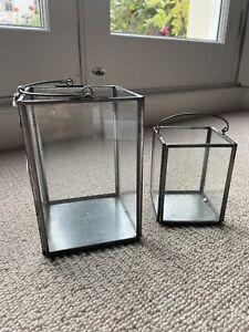 Nkuku Small Glass Box Lanterns X2