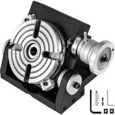 """New 4/""""//100mm Tilting  Rotary Table  with angular marking for setting at an angle"""