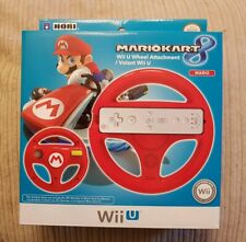 OFFICIAL HORI MARIO KART 8 WII U RACING WHEEL ATTACHMENT RED BRAND NEW & SEALED
