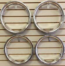 """13"""" NEW Plastic Chrome Wheel Beauty Rings TRIM RING SET"""