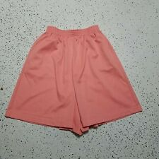 "Alfred Dunner Casual Shorts ~ Sz 12 ~ Pink ~ Elastic High Waist ~ 9"" Inseam"