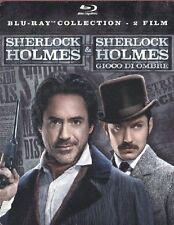 SHERLOCK HOLMES + SHERLOCK HOLMES - GIOCO DI OMBRE (2 BLU-RAY) COF. UNICO, ITA.