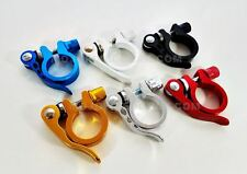 BMX / FIXED GEAR Quick Release Seatpost Clamp 28.6mm BLUE RED BLACK WHITE GOLD