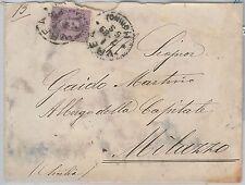 57064 - ITALIA REGNO - STORIA POSTALE :  Sass 42  isolato su BUSTA   1889