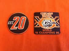Lot Of 2 HISTORIC VINTAGE CHICAGO BEARS FOOTBALL PATCHES,RETAIL VALUE $14.95