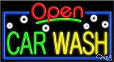 "NEW ""OPEN CAR WASH"" 37x20 REAL NEON SIGN W/CUSTOM OPTIONS 15477"