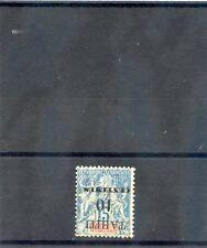 TAHITI Sc 29b(YT 33a)*F-VF LH, 1903 10c/15c BLUE, INVERTED SURCHARGE ERROR, $200