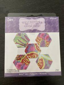 "NEW Sizzix Bigz, 2"" Hexagons #2"