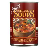 Amy's-Organic Fire Roasted Southwestern Vegetable Soup, Pack of 12(14.3 oz cans)