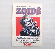 Catalogue dépliant jouet ancien gamme Tomy Zoids Les monstres machines Zoid toy