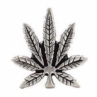 "Hemp Leaf Nickel Decorative Line 24 Snap Cap  1""1265-998 by Stecksstore"