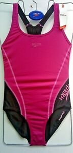 ladies SPEEDO endurance sleek swim costume - size 12