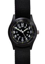 Military Industries Black Vietnam War Pattern Watch on Matching Strap -Unbranded