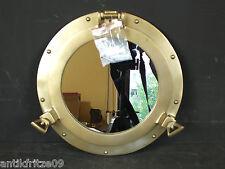 Bullauge Spiegel Altmessing Optik Klappbar Maritimes Schiffsfenster Wandspiegel