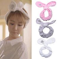 Lovely Big Rabbit Ear Soft Towel Hair Band Wrap Headband For Bath Spa Make Up FT