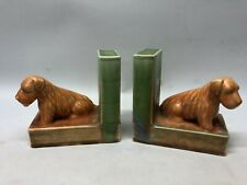 Pair Beswick pottery dog bookends