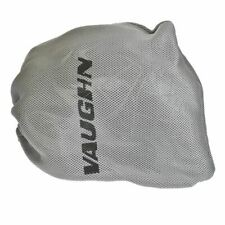 Vaughn 7600 goalie helmet mask bag with draw string equipment cage silver grey