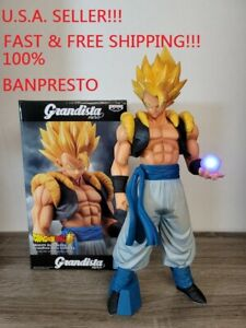 "Dragon Ball Super Banpresto GRANDISTA NERO Super Saiyan Gogeta 12.5"" figure LED"