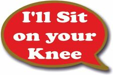 Speech Bubble Christmas - I'll Sit on your Knee