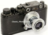 Zorki I 35mm Rangefinder Camera made into LEICA IIIc Luftwaffen Eigentum (copy!)