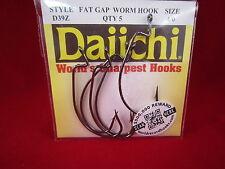 Daiichi Fat Gap Worm Hook size 4/0 D39Z 23904 5 pack