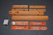 Leinenkugel Chippewa Falls / Leinie Lodge Wooden 6' Trail Sign Post Brand New