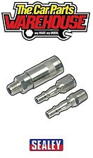 """Sealey Air Tool Coupling Kit 1/4"""" BSP (Compressor Male Female Quick ) ACX60"""
