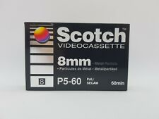Scotch Video Cassette 8mm P5-60 Camcorder Tape - New & Sealed