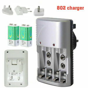 Multi Slot Mains Battery Charger For AA AAA & 9V Sizes Rechargeable Batteries UK