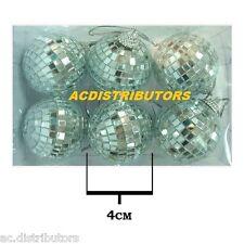 "BULK PACK 6 x 1½ "" Mini Mirror Disco Glass Balls ""GREAT PARTY SAVING"""