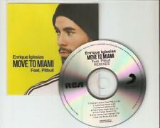 """ENRIQUE INGLESIA Ft PITBULL """"MOVE TO MIAMI"""" THE REMIXES 7 REMIX CD PROMO"""